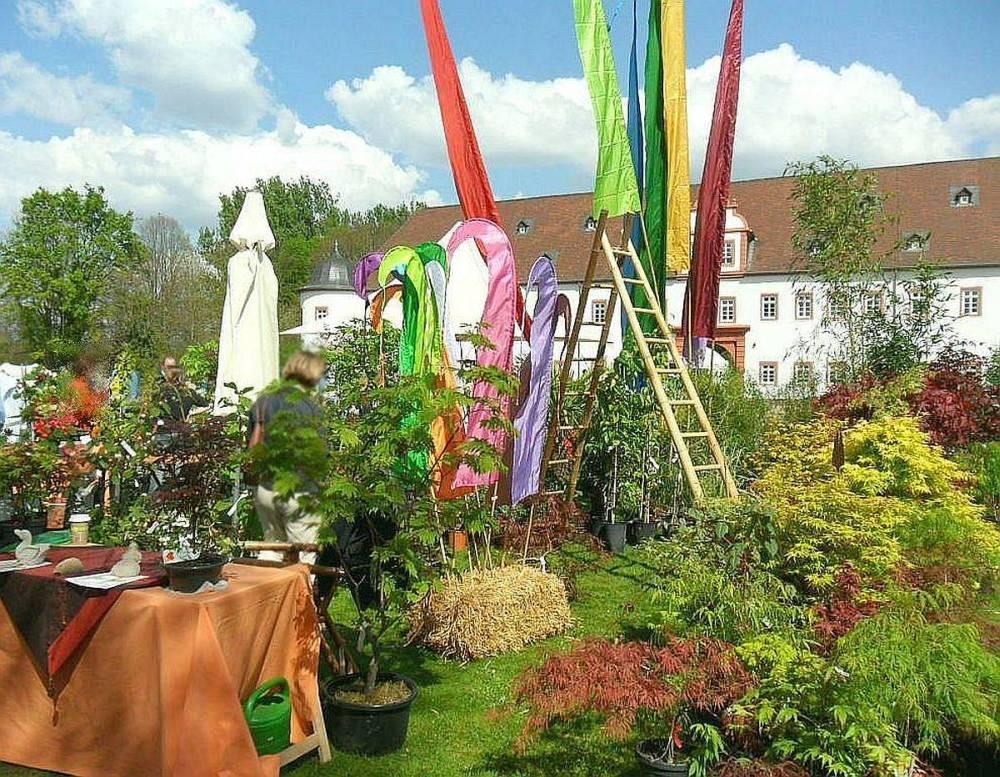 Unser Stand auf einem Gartenmarkt