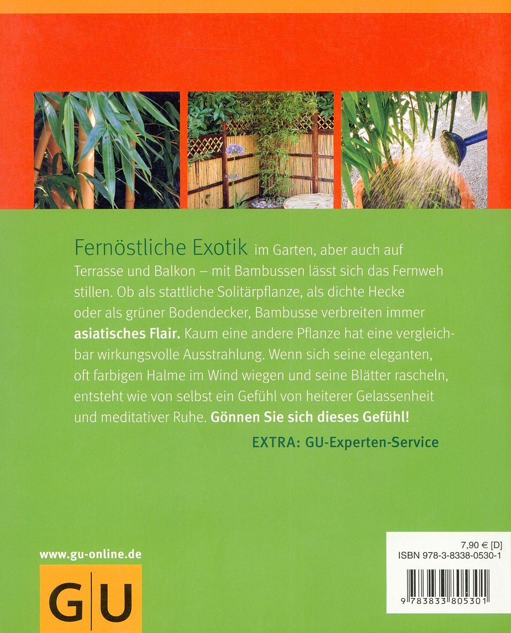 Bambus Buch Back Cover Hinweise